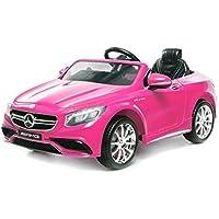 Licencia para niños, diseño de coche Mercedes–Benz S63AMG 2x 35W 12V MP3RC coche eléctrico de los niños vehículo Radio Control Eléctrico (Producto con enchufe de UK), Shocking Pink
