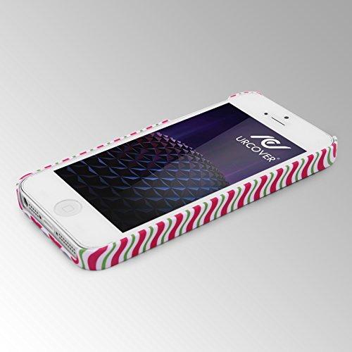 iPhone 5 / 5s / SE Coque, Urcover Étui Mandala PC Rigide [Motiv Big Flower] Téléphone Smartphone Apple iPhone 5 / 5s / SE Housse Antichoc Case Wavy stripes