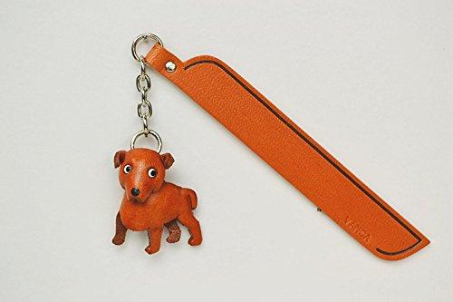 Staffordshire Bull Leder Hund Charm Lesezeichen Vanca handgefertigt in Japan... -