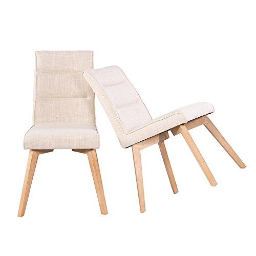 Polsterstühle 2er Set Esszimmerstühle Küchenstühle – Retro Design Stoff
