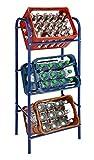 Getränkekistenregal für 3 Getränkekästen - blau - Kastenregal, Kastenständer