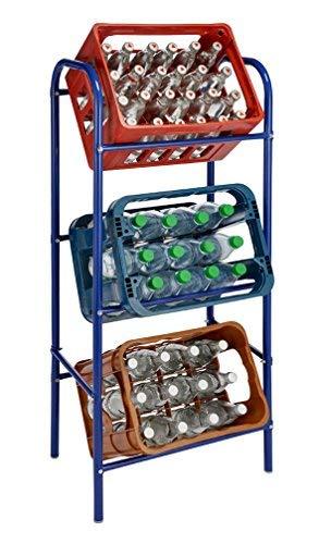 Getränkekistenregal für 3 Getränkekästen - blau - Kastenregal, Kastenständer -