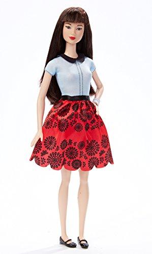 Mattel Barbie DGY61 - Modepuppe, Fashionista im roten Blumenkleid - Barbie-puppen Ethnische