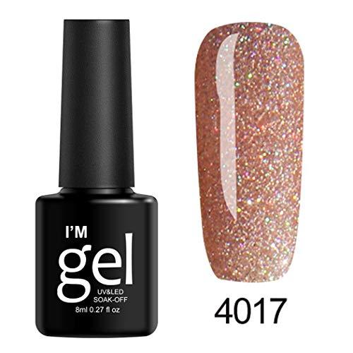 Qenci 8mL 19Colors Longue Durée Glitter Gel Vernis À Ongles Beauté Art Outils Salon Accessoires de décoration pour nail art