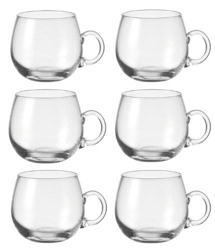 Leonardo Punch 6er-Set Bowlegläser Punchgläser Becher mit Henkel Glas