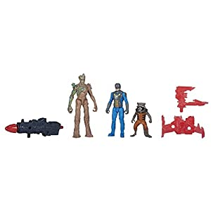 Marvel Guardians of the Galaxy Groot, Rocket Raccoon and Nova Corps Officer Figure Pack from Hasbro