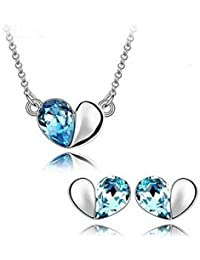 New Fashion Jewellery Crystal Elements Turquoise & # X153; Heart Design