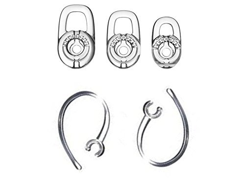 SET 3pcs SML Earbuds 2pcs Earhooks for Plantronics Marque M155 Marque 2 M165 Savor M1100 M100 M55 M28 M25 Headset  available at amazon for Rs.1529