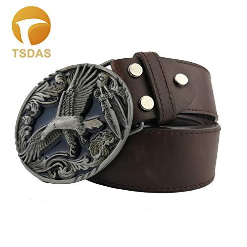 Cushy Cowboys - Hebillas de Metal para cinturón, diseño de águila, para Hombres: 4