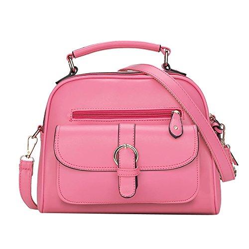 LaoZan Borsa A Mano Bauletto Da Donna Elegante Design Messenger Bag Azzurro Rose