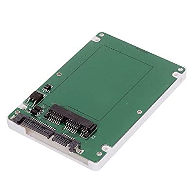 Cablecc 1.8Micro SATA 16pin SSD vers 2,5pouces SATA 22pin 7+ 15disque dur Coque boîtier Blanc 7mm de hauteur par CY