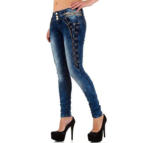 damen jeans used look low skinny blau g nstige hosen. Black Bedroom Furniture Sets. Home Design Ideas
