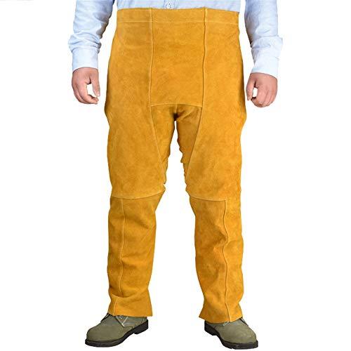 Insun Pantalones de Cuero para Soldador Pantalones de Trabajo de...
