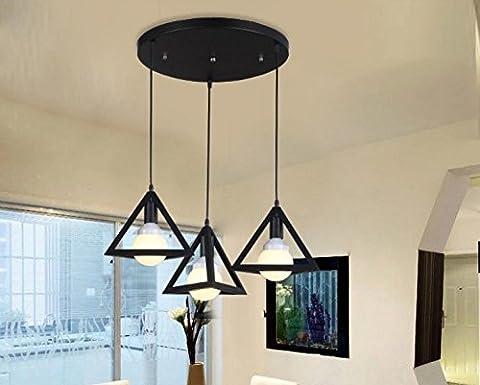 DZXYA  Art de fer créateur minimaliste retro Garden Lounge Café-bar chambres lustres, sect. D'ÉTUDE