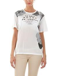 T-shirt imprimé enduit fleuri