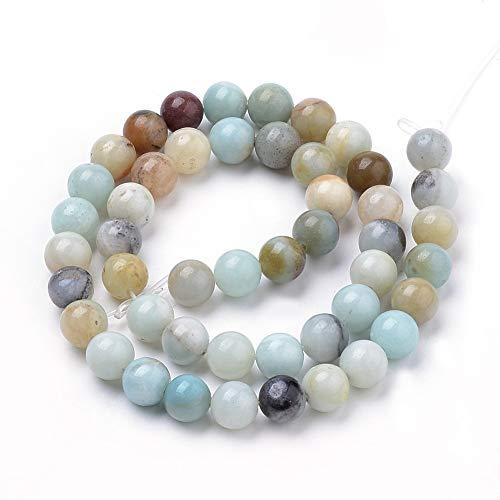 Naturwunder - perline in amazzonite, brillanti, 8 mm 47 perle.
