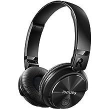 Philips SHB3060BK/00 - Auriculares de diadema cerrados, (Bluetooth, 106 dB, alcance inalámbrico 15 m), color