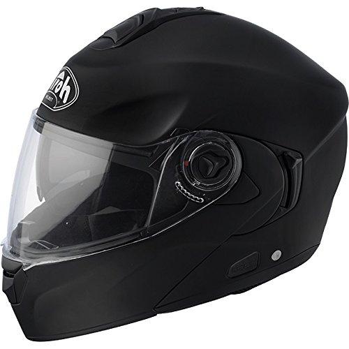 Casco Airoh Flip Up Rides Color Negro Matt Para Moto