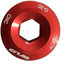 Demiawaking Gub pedale per braccia manovella bullone di fissaggio a vite CNC per Shimano XTR Deore., Red
