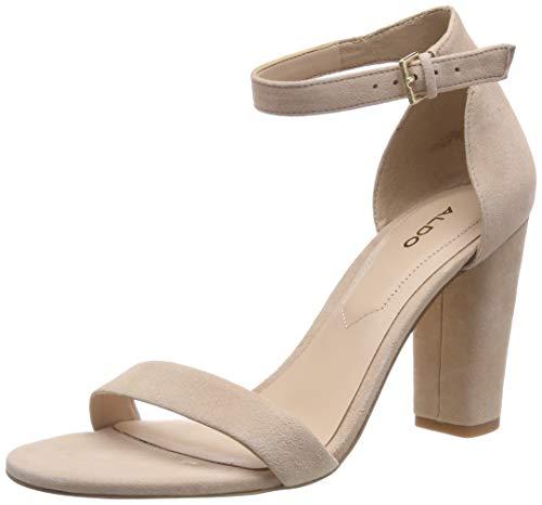 Bone Suede Schuhe (ALDO Damen JERAYCLYA Riemchensandalen, Beige (Bone Suede 31), 39 EU)