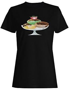 Sabroso, sabroso, helado, pastelería, cocinero camiseta de las mujeres g405f