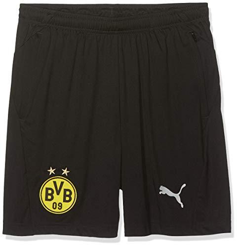 PUMA Kinder BVB Pockets with Zippers Training Shorts, Black, 110 Jungen Zipper