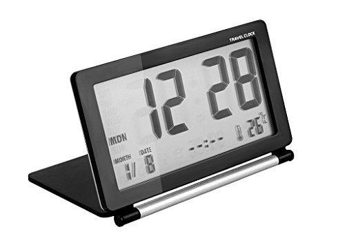 Reloj escritorio digital Foldable despertador viaje