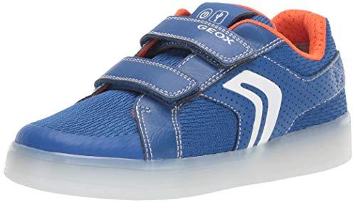 Geox Jungen J KOMMODOR BOY A Sneaker Blau (Royal/Orange C0685), 30 EU