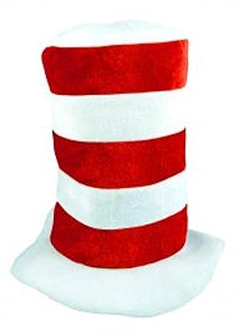 Kinder Rot & Weiß Tall Hut Buch Tag Fancy Dress Katze Thema