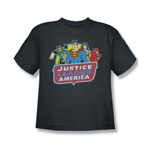 Dc - Jugend 8 Bit-Liga-T-Shirt Charcoal