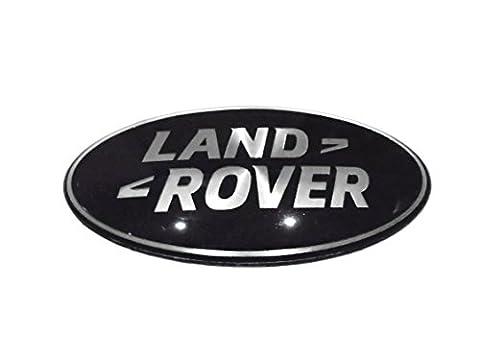 Land Rover Emblem schwarz & Silber Kühlergrill Emblem Abzeichen Maße: