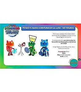 Bandai Set Figura PJ Masks Aventuras EN LA Luna, Incluye Mochila con LUZ, Casco Lunar Y 2 Accesorios 95165