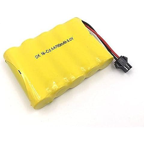 AA recargable de 6V 700mAh paquetes de baterías Ni - CD SM 2P plug para juguetes de banco de potencia