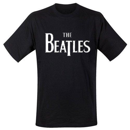 Spike Herren T-Shirt The Beatles Logo, schwarz, Gr. M (Beatles-schwarz T-shirt)