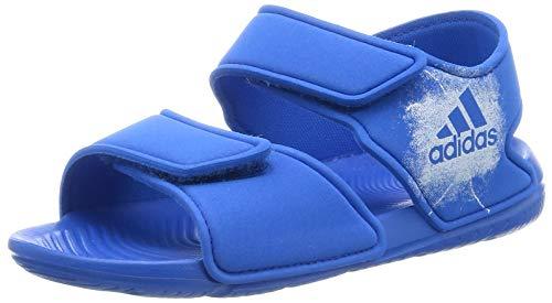 adidas Kinder-Unisex Altaswim I Zehentrenner, Violet/Rose Corail/Rose Orangã, Blau (Blue/Ftwr White/Ftwr White), 19 EU