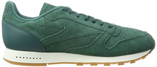 Reebok Cl Leather Sg, Scarpe da Fitness Uomo Verde (Washed Jade/chalk-gum)