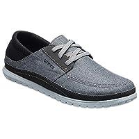 Crocs Men's Santa Cruz Playa Lace Sneaker, Slate Grey/Light Grey, 12 M US