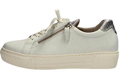 Gabor-2 La  66.468.50, Chaussures de ville à lacets pour femme blanc Weiß Weiß