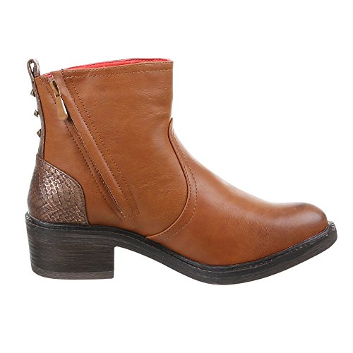 Chaussures, pa - 904, bottines Marron - Camel