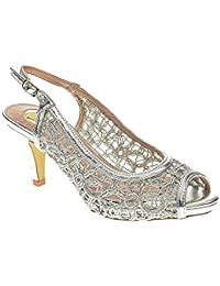 Zapato Fiesta - Mujer - Plata - destroy - 331823