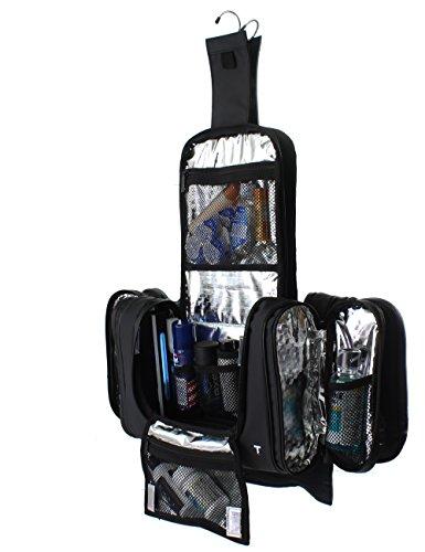 Taskin Men's Kruze Hängenden Kulturbeutel Toiletry Bag W/Anti-keimtötende UV-Licht Strahler & integrierte 4 Saugnäpfe