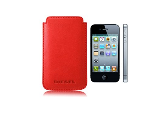 Diesel X00851 New Hastings Housse en cuir pour iPhone 4/4S Rouge