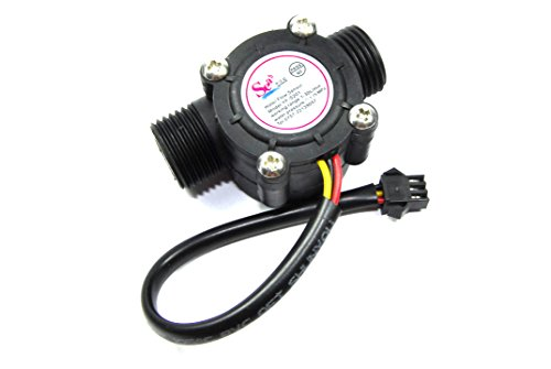 Price comparison product image Hall Effect Flow Meter YF-S201 Hydroponic Water 0-30lpm Arduino Pi