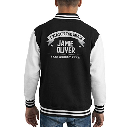 Coto7 I Watch Too Much Jamie Oliver Said Nobody Ever Kid's Varsity Jacket