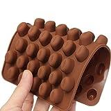 Trada Kuchen Form, Silikon Schokoladen Kaffeebohnen Form Süßigkeits Kuchen BonBon 55 Hohlraum Formen Bakeware Pfanne Backblech Dessert Schokolade ist Backen Werkzeug (Kaffee)