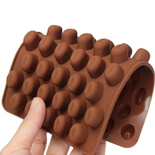 Trada Kuchen Form, Silikon Schokoladen Kaffeebohnen Form Süßigkeits Kuchen BonBon 55 Hohlraum...