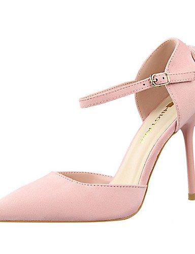 WSS 2016 Chaussures Femme-Décontracté-Noir / Rose / Gris / Orange / Kaki-Talon Aiguille-Talons-Talons-Laine synthétique black-us5 / eu35 / uk3 / cn34