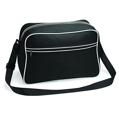 Bagbase Retro Schultertasche, WHITE BLACK, Einheitsgre