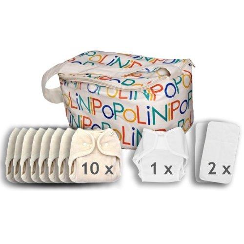 Popolini One Size Soft Set kba Komplettset Stoffwindeln 3-15kg NEU & Original (Stoffwindel One Size)