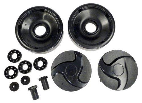 Hayward ax6009bbk schwarz, hinten Räder mit Kugellager, Nüsse und Radkappen Radzierblenden Ersatz für Select Hayward Pool (Radkappe Hinten)